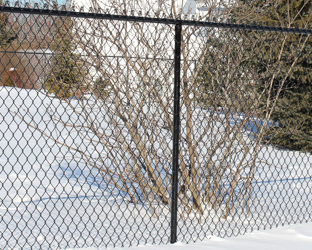 Black Chain Link Fence - 11
